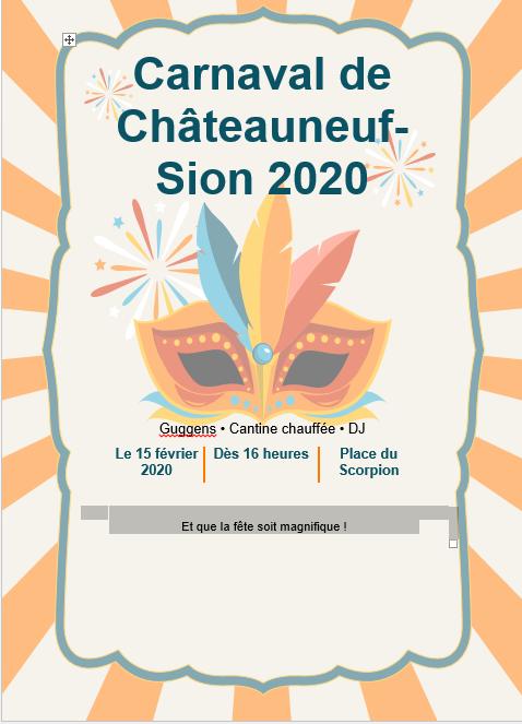 Carnaval de Châteauneuf-Sion